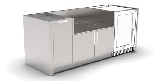 Stainless Steel Cabinets Outdoor Kitchens Jw Outdoor Cabinets
